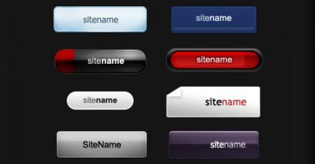 Набор из десяти разных кнопок