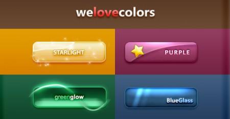 Красивые цветные кнопочки