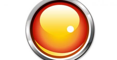 Стеклянная кнопка
