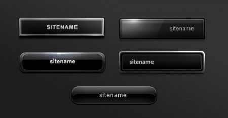 пять черных кнопок .psd