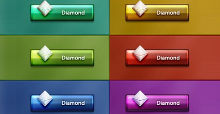 Цветные кнопки с кристаллом