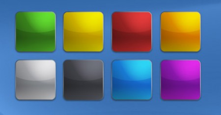 Блестящие цветные кнопки в стиле iPhone